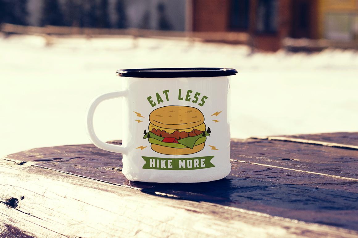 Mountain Burger Logo / Hike More Logo / Eat Less Hike More example image 2