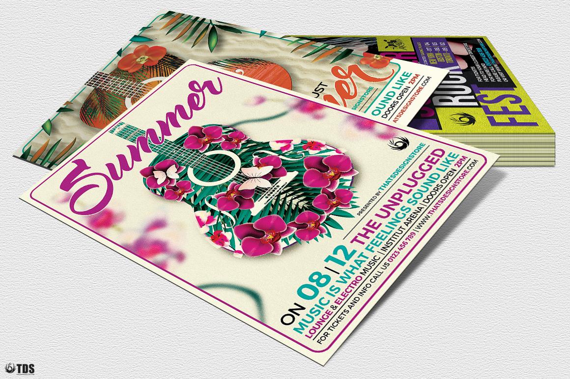 Summer Concerts Flyer Bundle example image 7