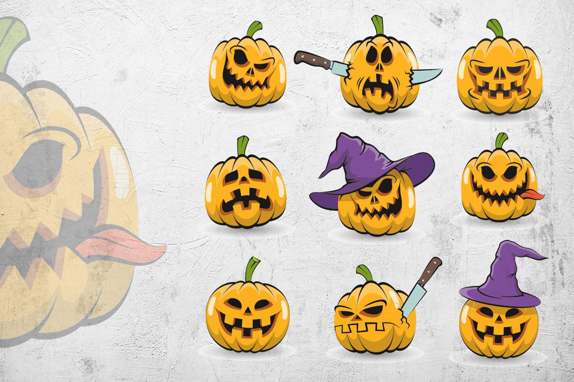 Halowen Pumpkins Pack example image 4