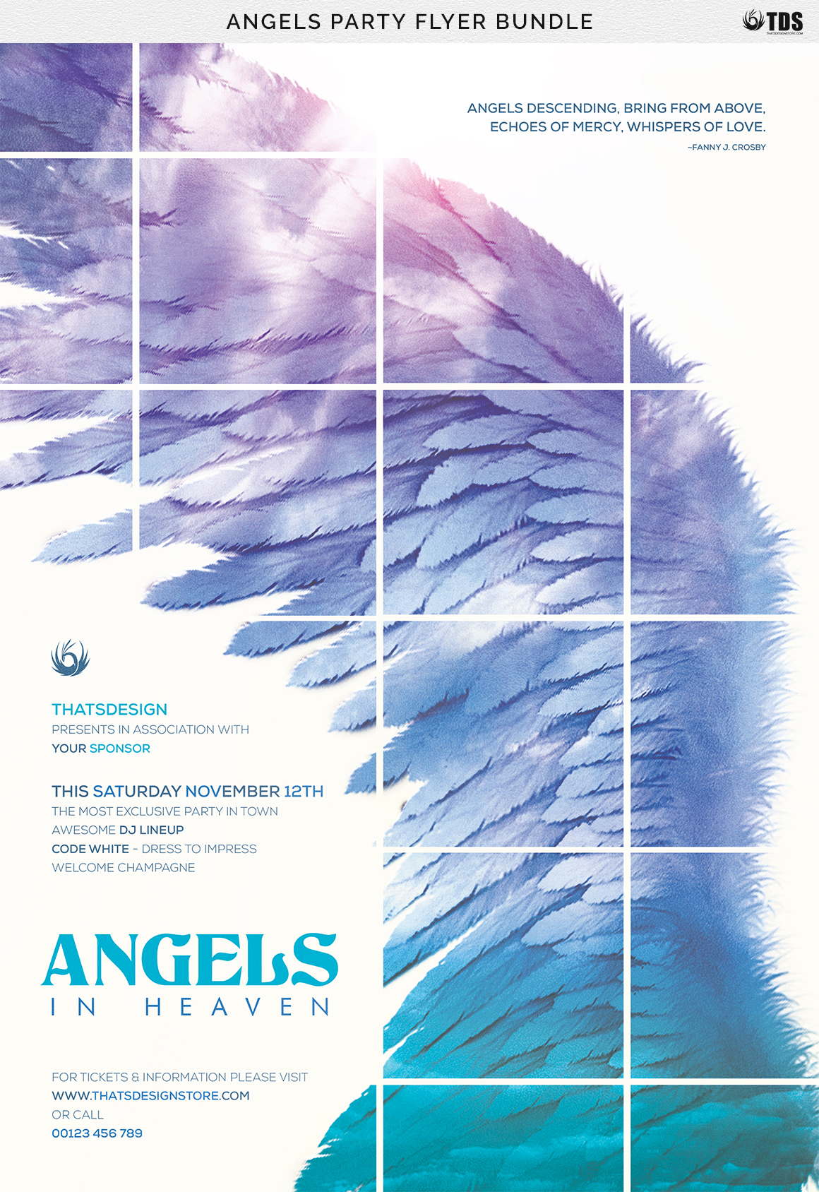 Angels Party Flyer Bundle example image 11