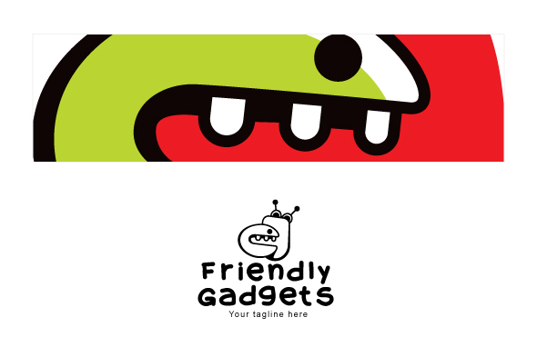 Friendly Gadgets - Cute Robotic Gadgets Stock Logo Template example image 3