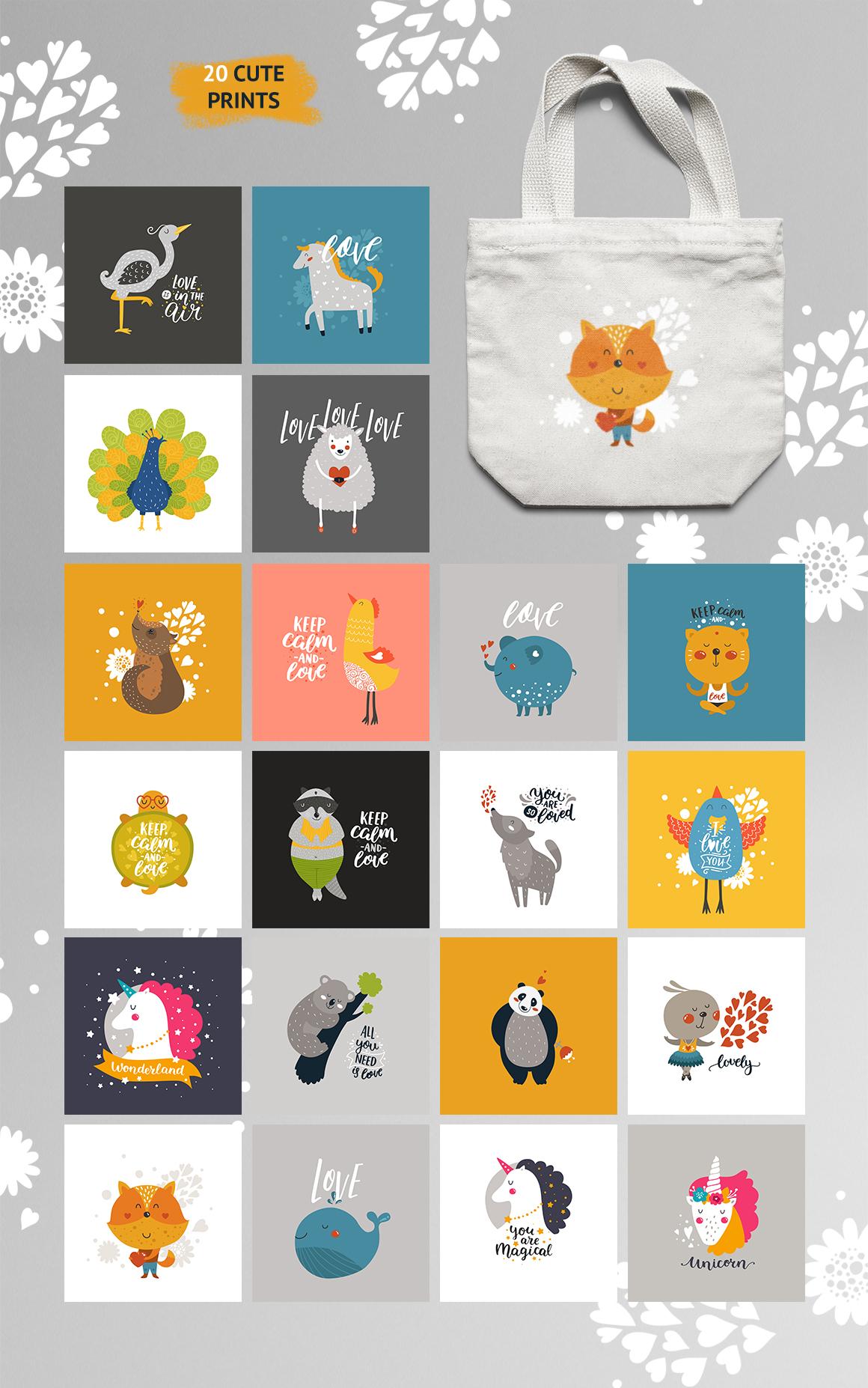 Cute Animals Bundle • 80% OFF example image 8