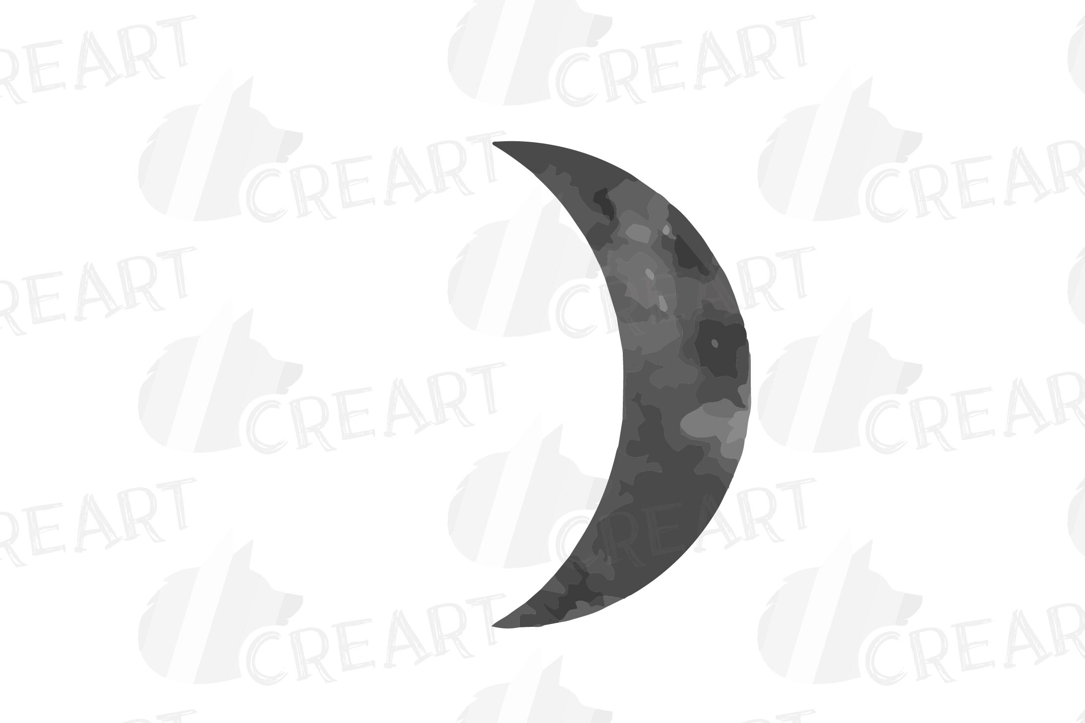 Watercolor space blue and grey Moon Phases clip art pack example image 9