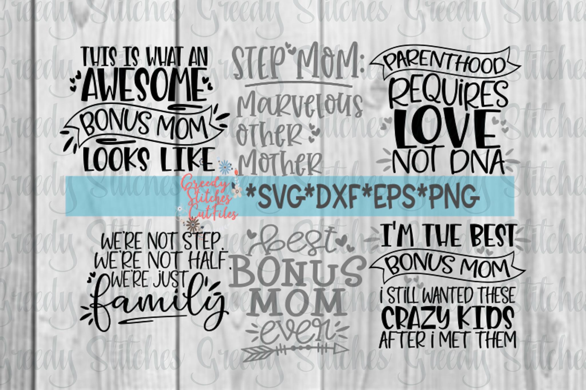 Mother's Day | Bonus Mom Bundle | Step Mom SVG Bundle example image 1