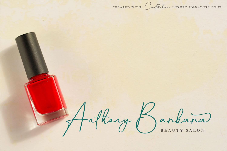 Canthika Luxury Signature Typography example image 4