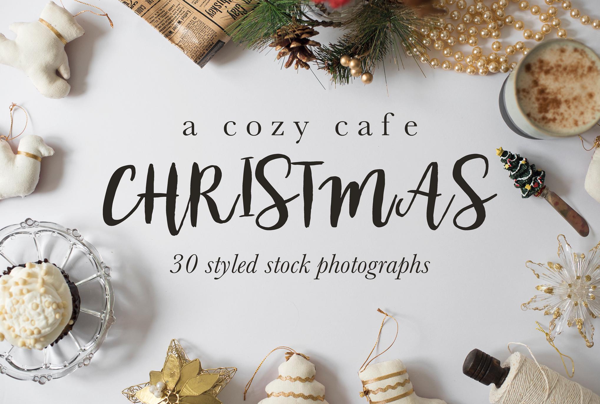 Cozy Cafe Christmas Photo Bundle example image 1