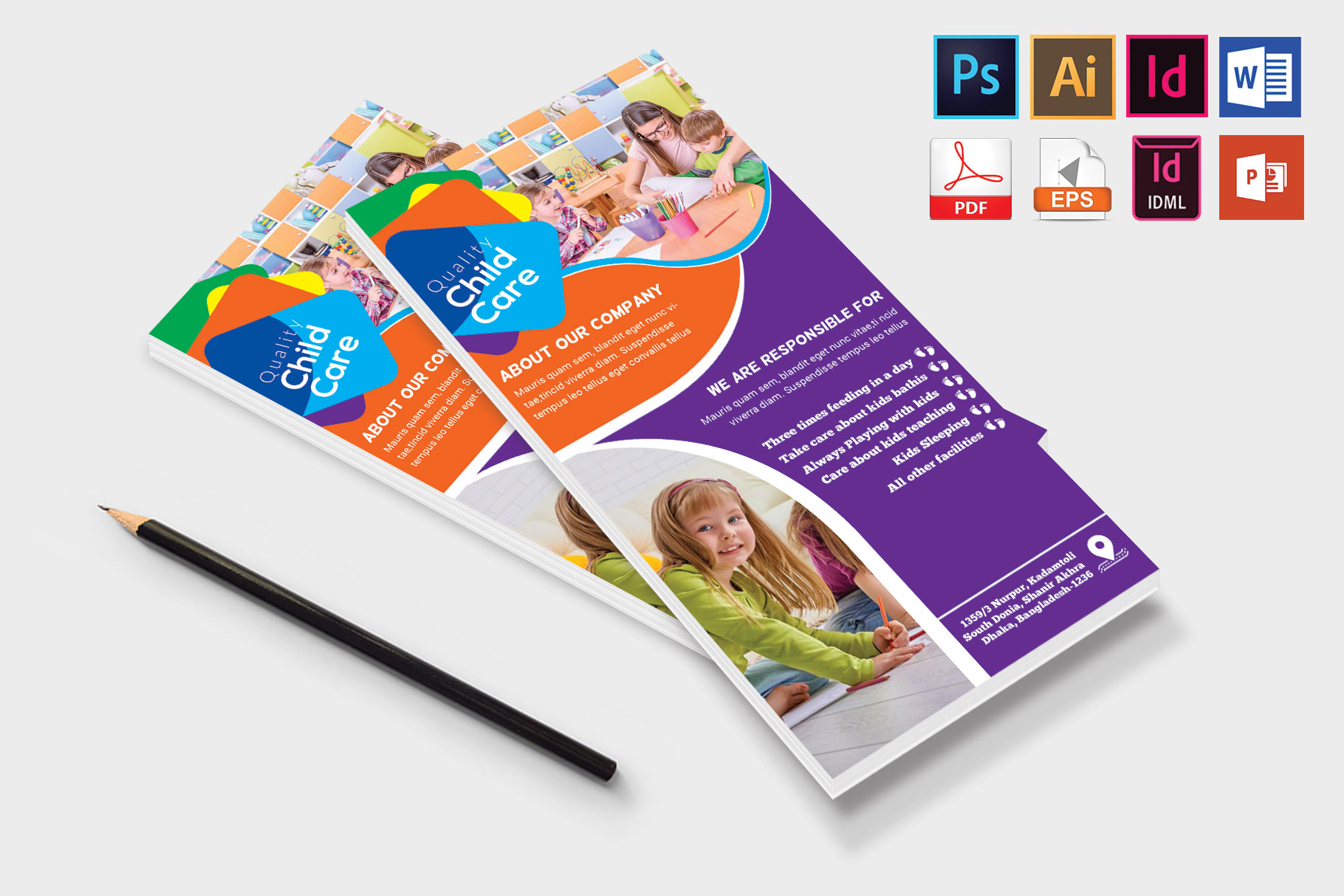 Rack Card   Baby Care DL Flyer Vol-01 example image 4