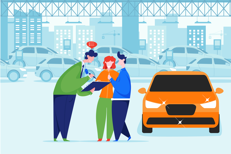Car Dealership Vector Illustration Pack example image 8