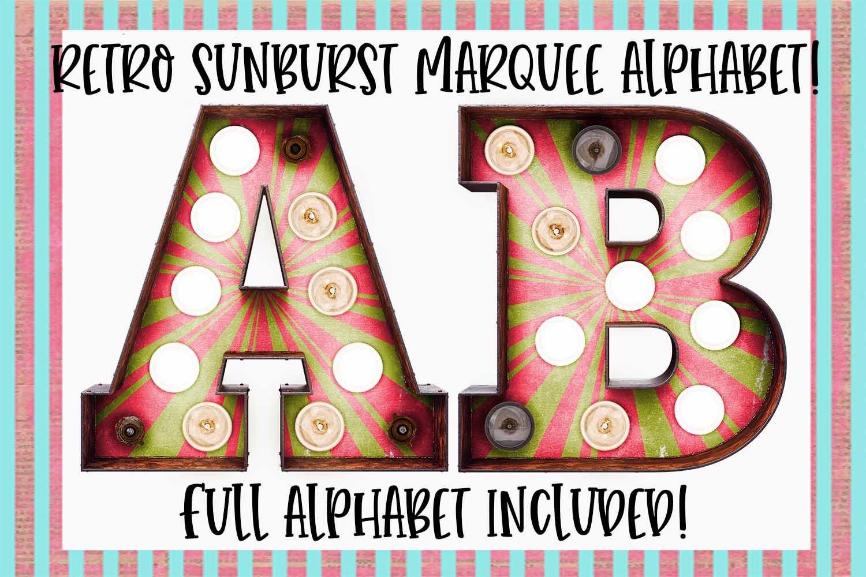 Retro Sunburst Marquee Sublimation Digital Download example image 1