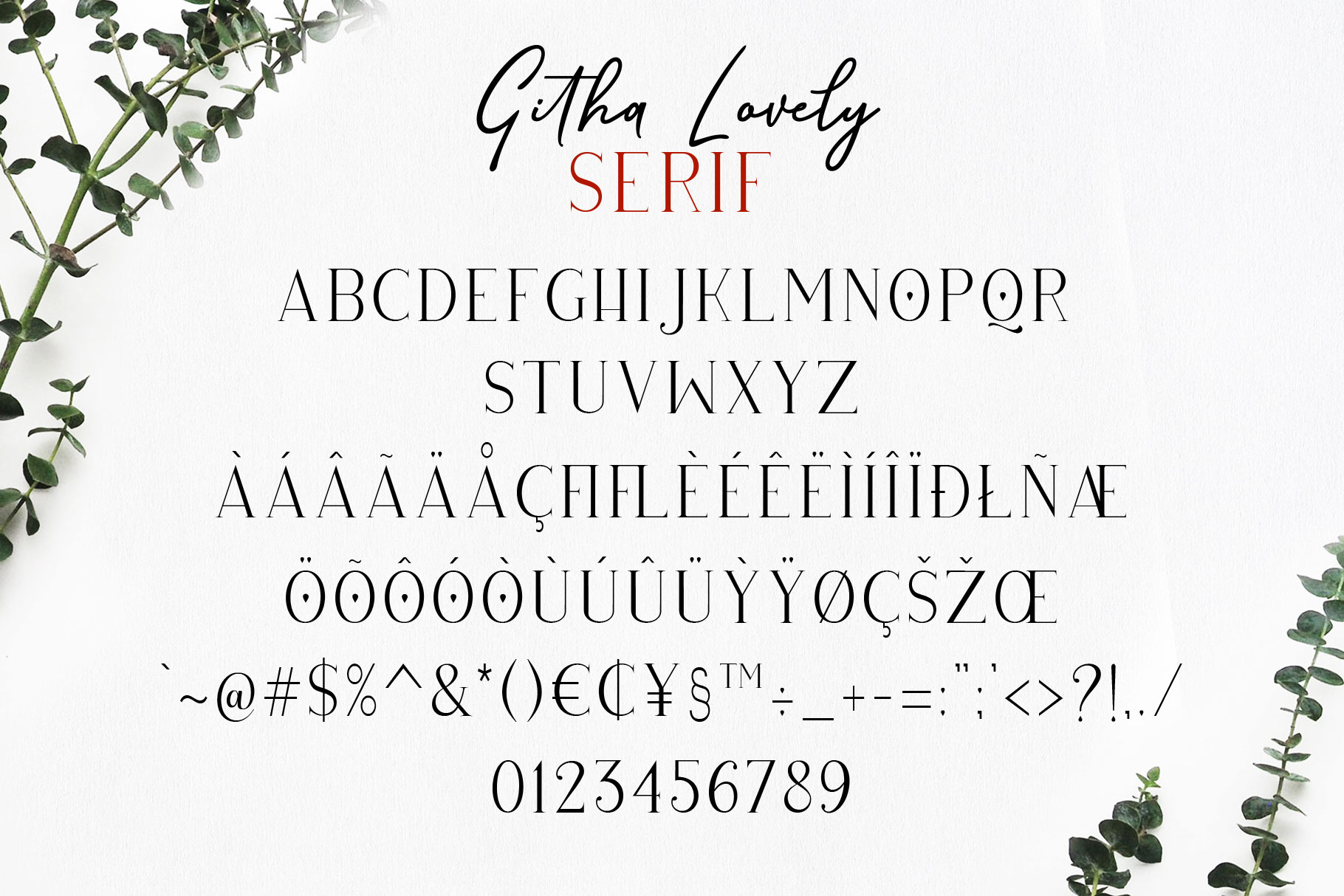 Githa Lovely Font Duo example image 13