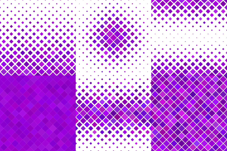 24 Purple Square Patterns AI, EPS, JPG 5000x5000 example image 6