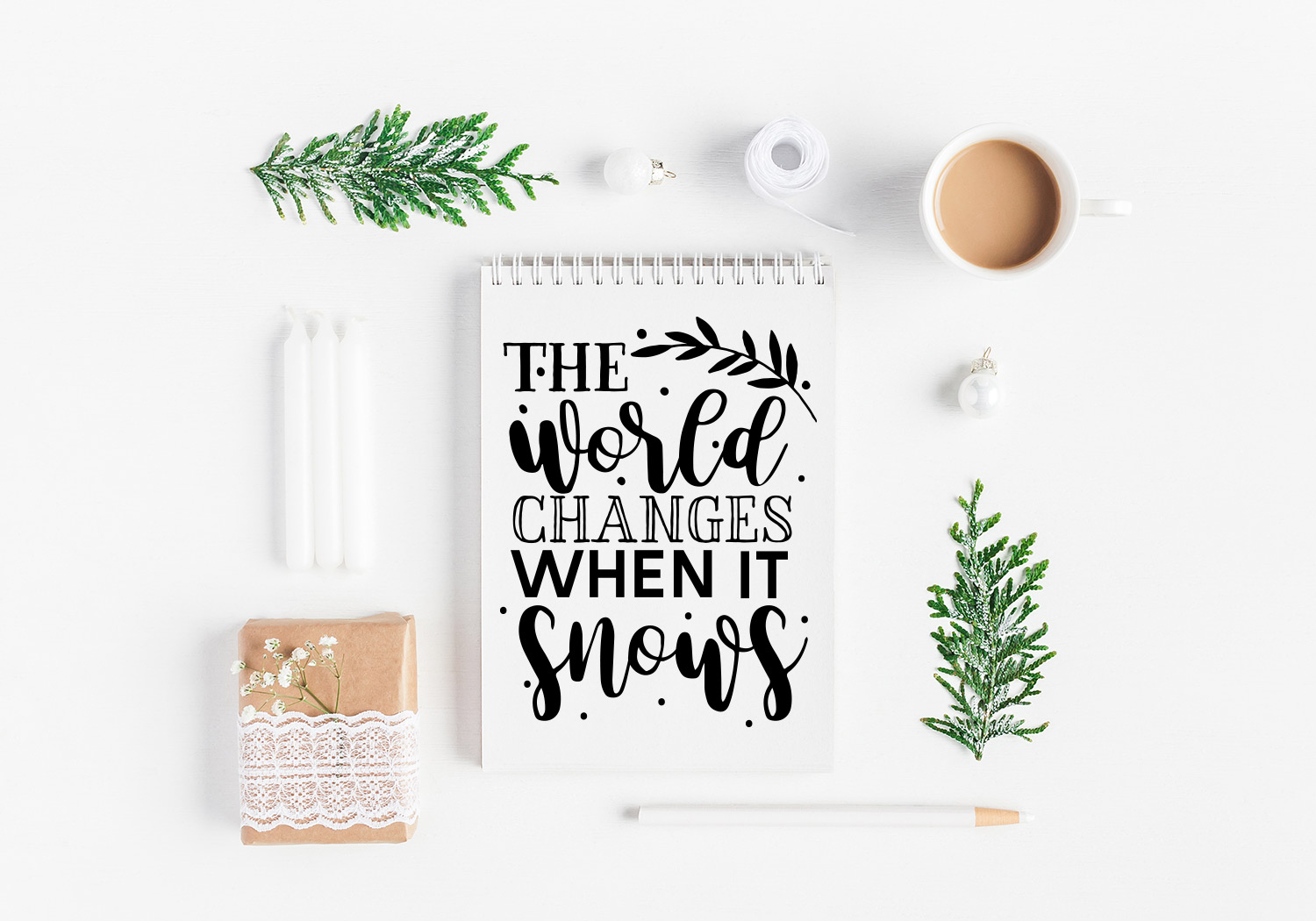 Winter Quote Cut File Bundle example image 8