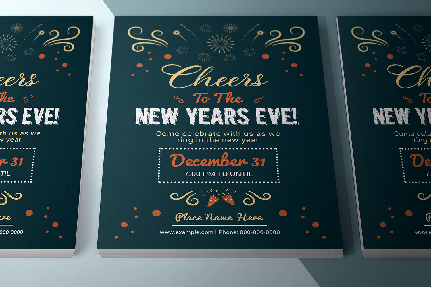 Printable New Year Party Flyer example image 3