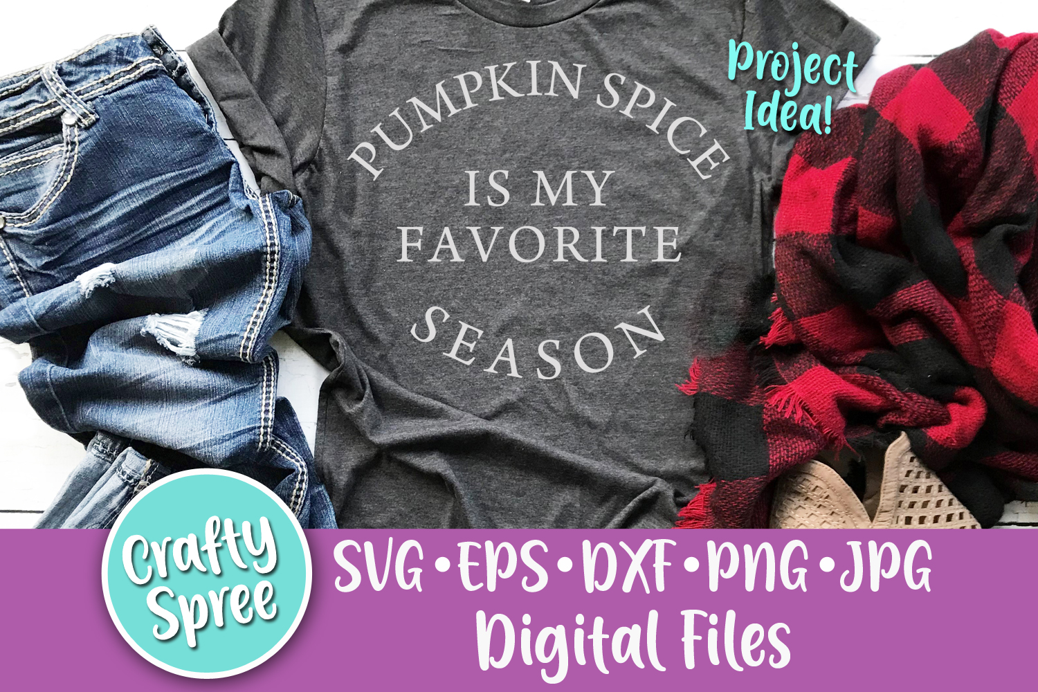 Pumpkins Spice is My Favorite Season SVG PNG DXF Cut File example image 1