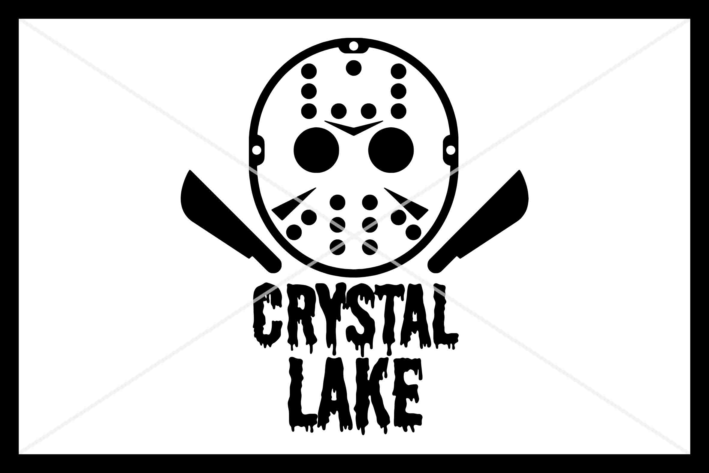 Halloween, SVG, Mask, Crystal Lake, Silhouette Cameo, Cut example image 1