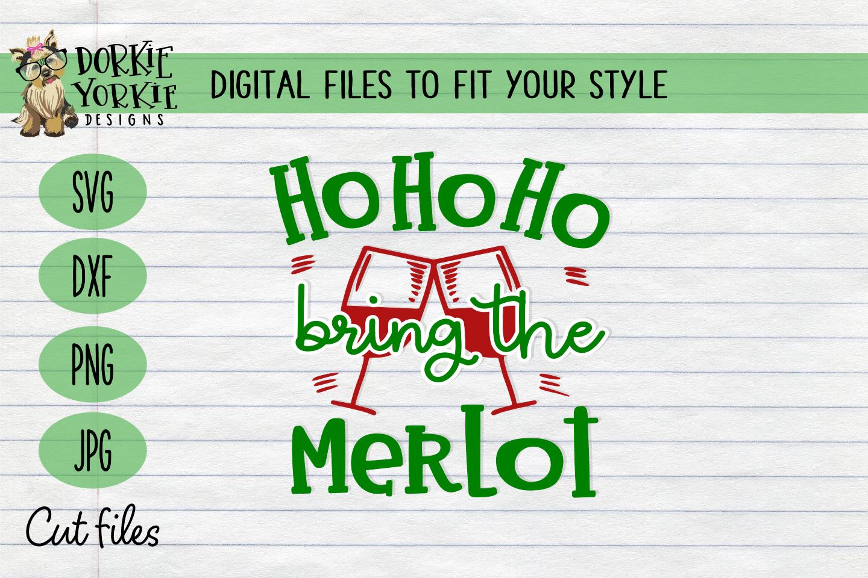 BUNDLE Joy to the wine, Merlot Christmas, WIne Xmas - SVG example image 3