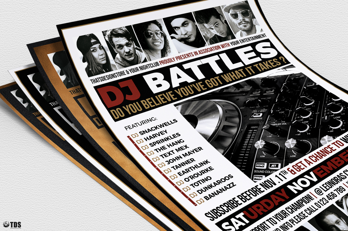 DJ Battle Flyer Template V4 example image 6