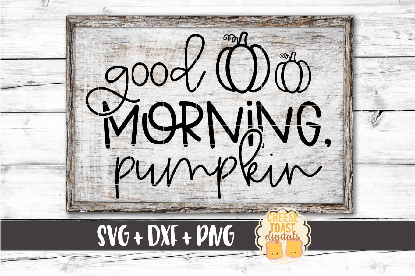 Good Morning Pumpkin - Fall Sign SVG PNG DXF Cut Files example image 1