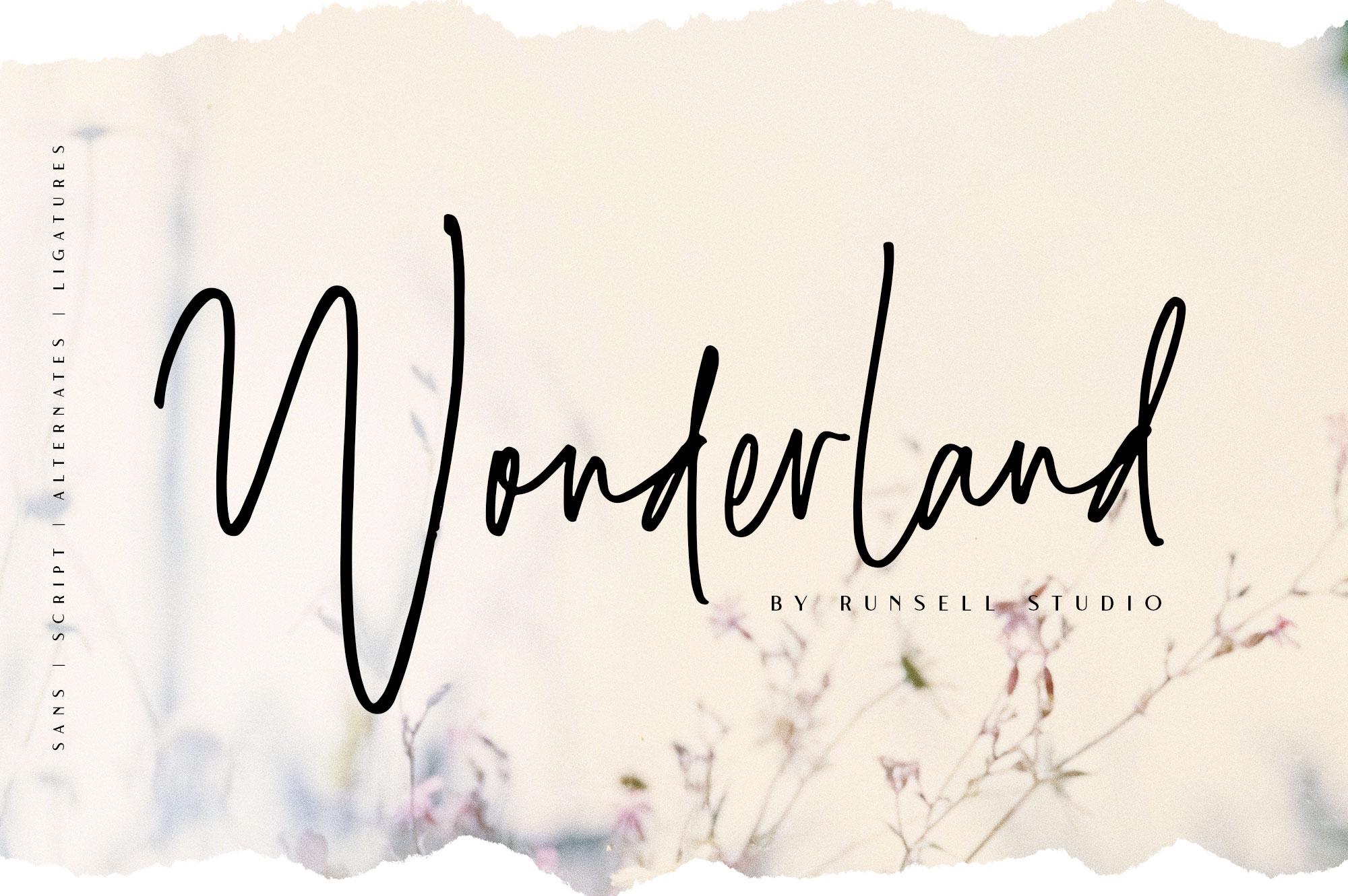 Wonderland | Script & Sans Serif example image 1