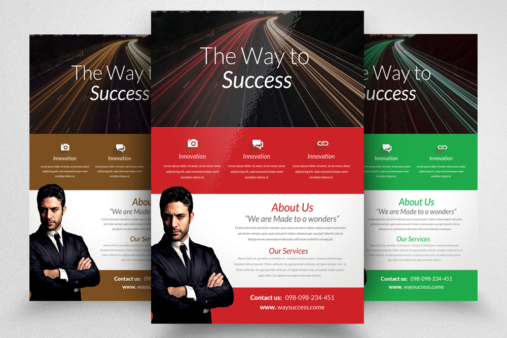 6 Corporate Business Flyers Bundle example image 3
