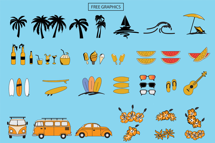 Holiday Summer Beach - 3 Font Family example image 9