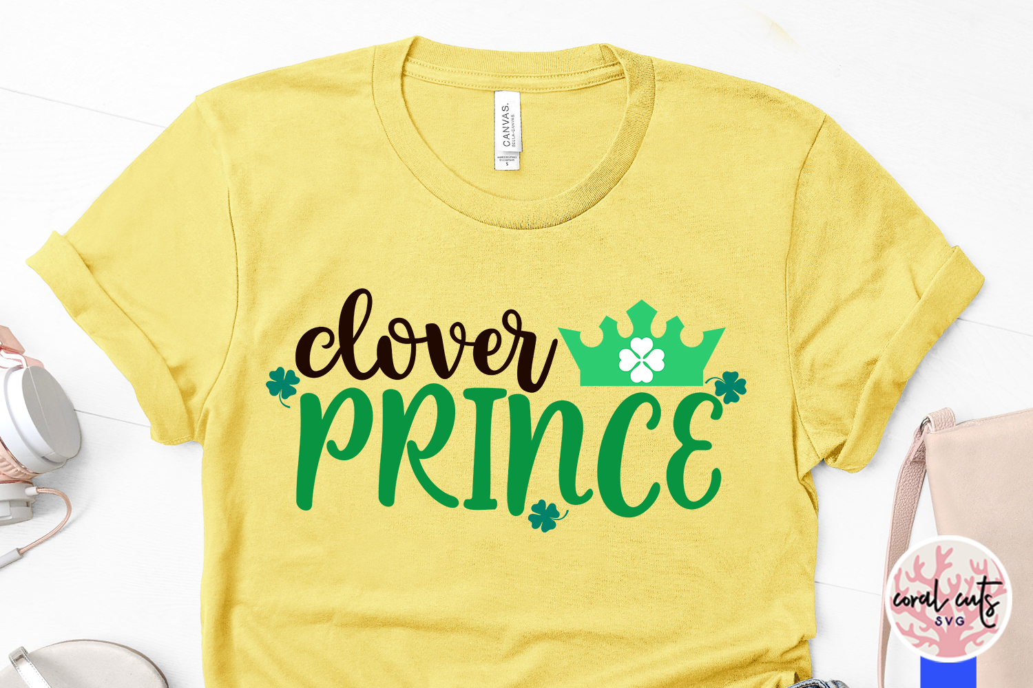 Clover prince - St. Patrick's Day SVG EPS DXF PNG example image 3