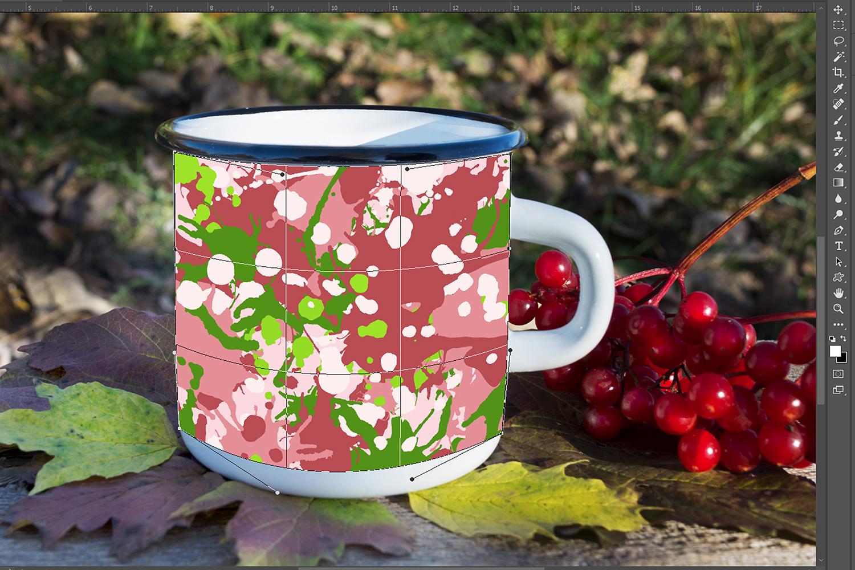 White campfire mug mockup with viburnum example image 3