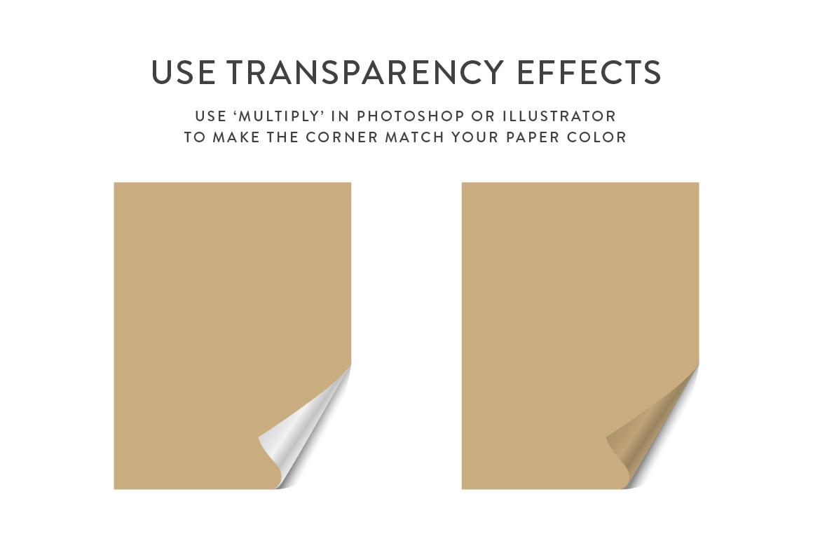 Curling Paper Corner Folds Set example image 10