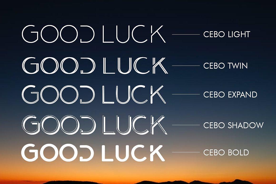 Cebo Typeface example image 7