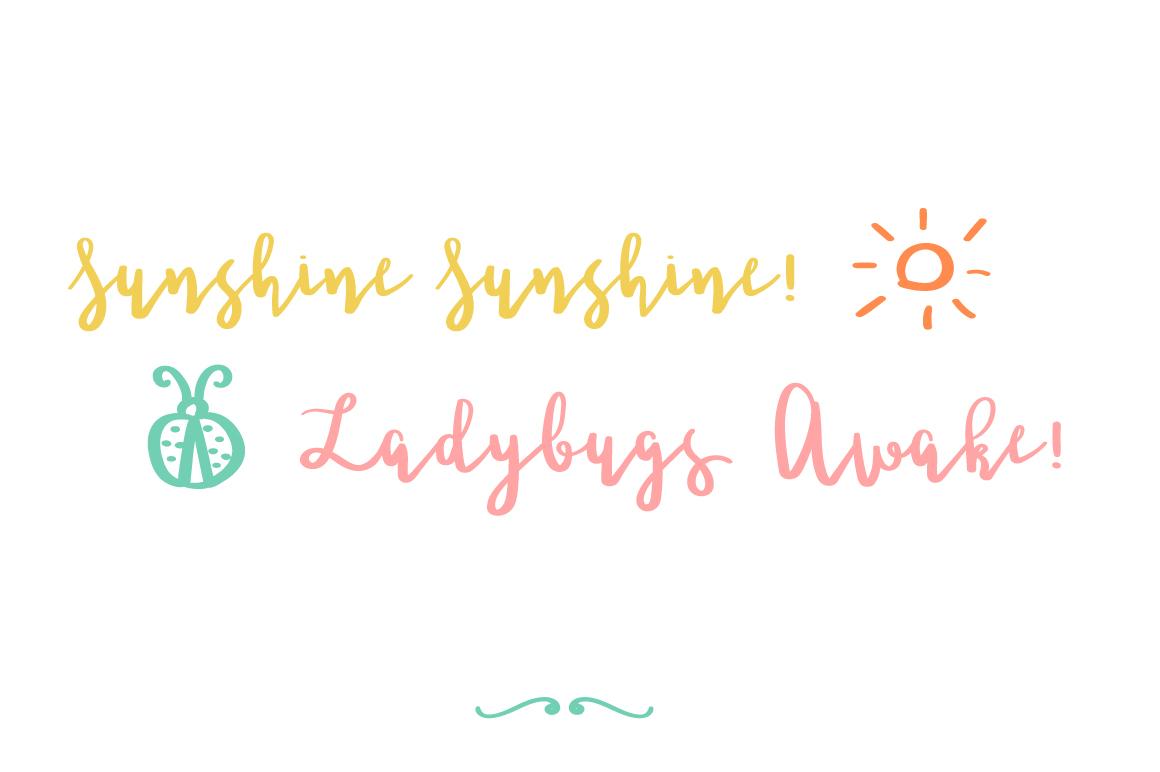 Ladybugs Script Font example image 5