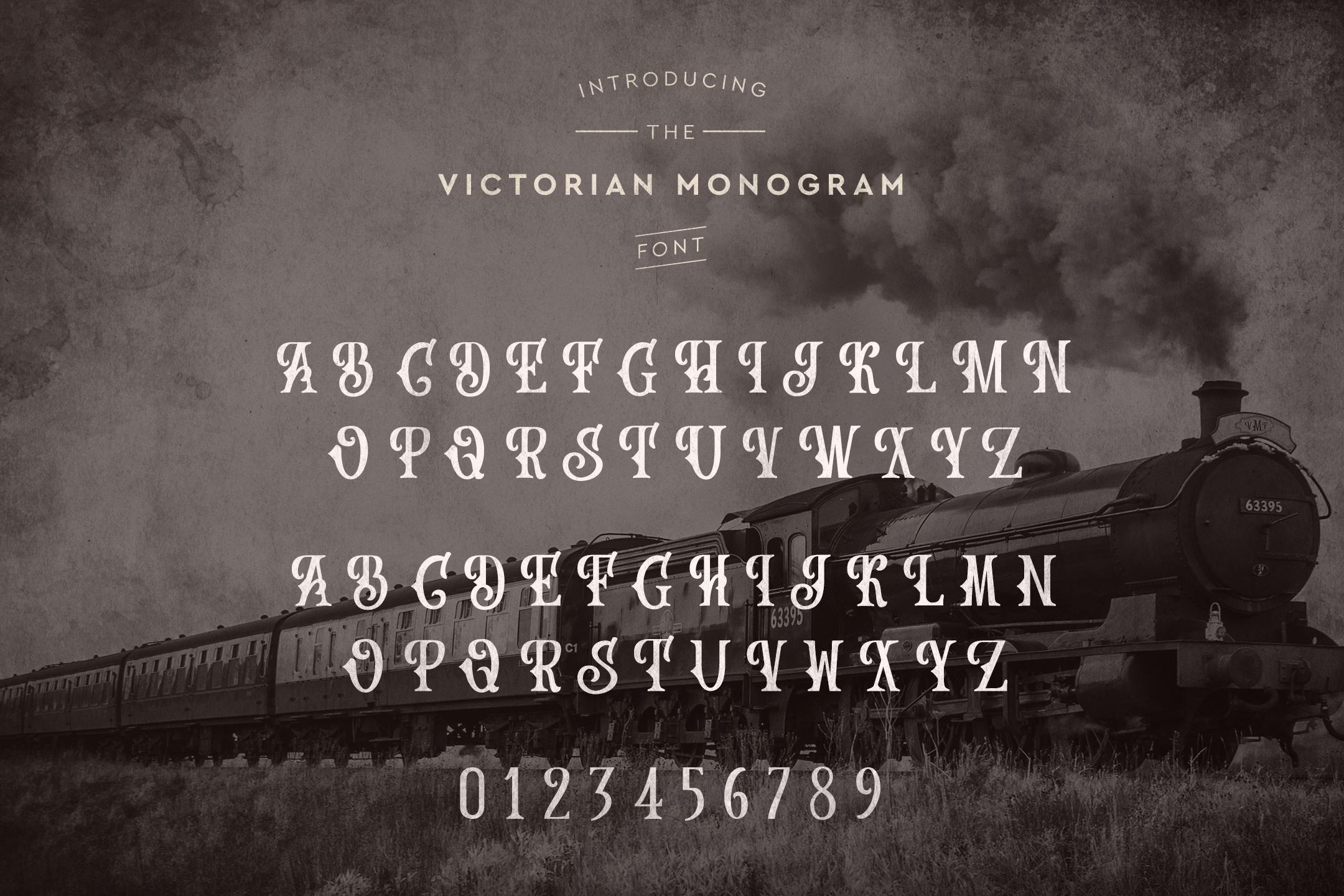 Victorian Monogram Font example image 4