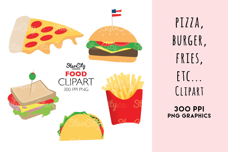 Food Clipart graphics, Hamburger clipart example image 1