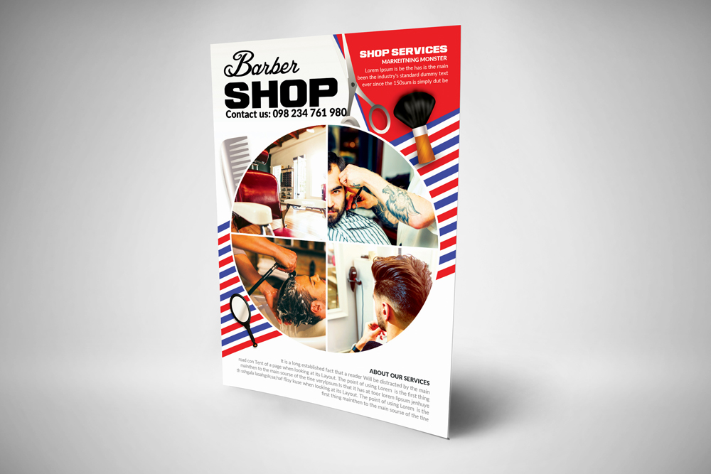 Barber Shop Psd Poster Templates example image 3