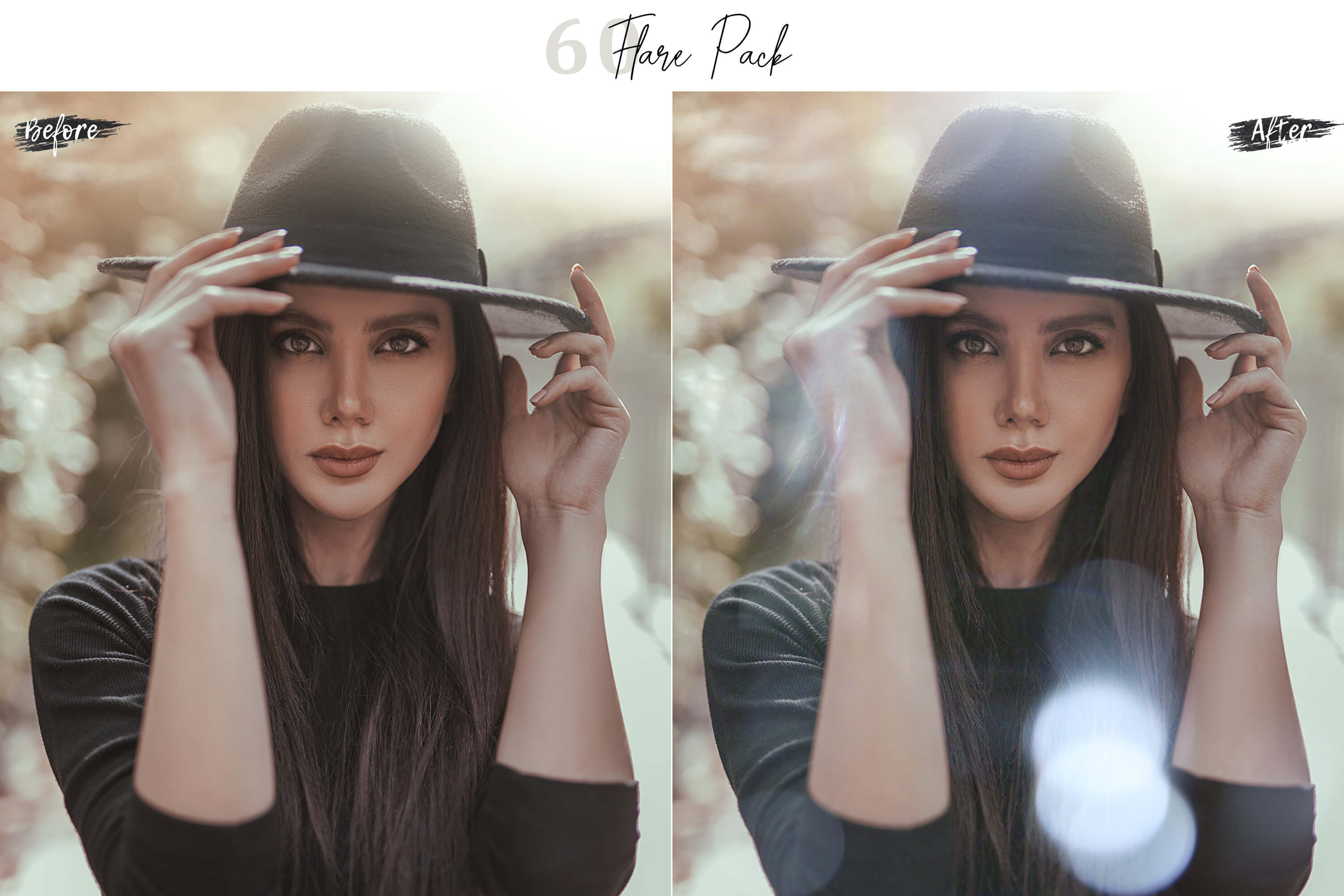 60 Flare Pack 03 lights Effect Photo Overlays example image 6