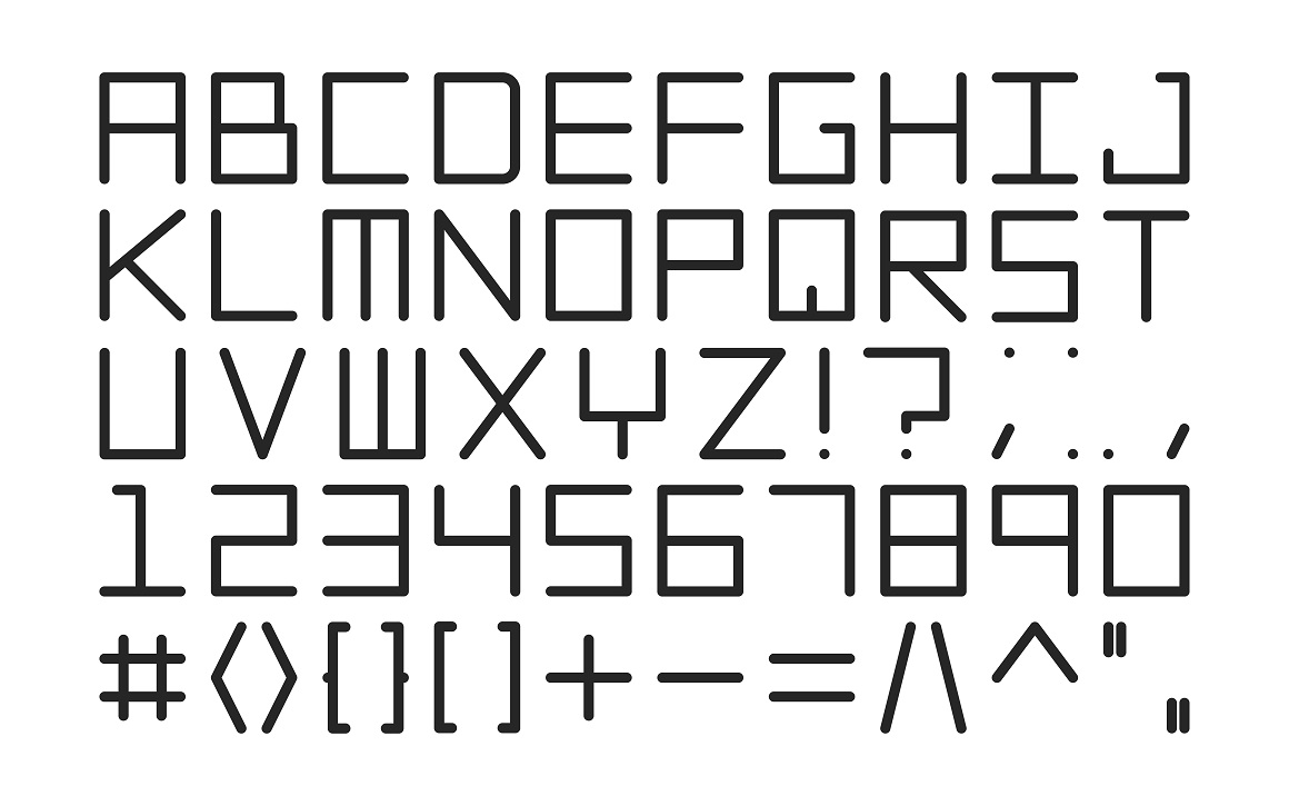 Digital letters. English alphabet example image 3