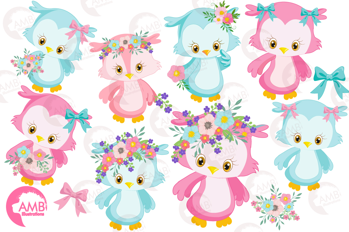 Enchanted Owls cliparts, graphics illustrations AMB-1392 example image 4