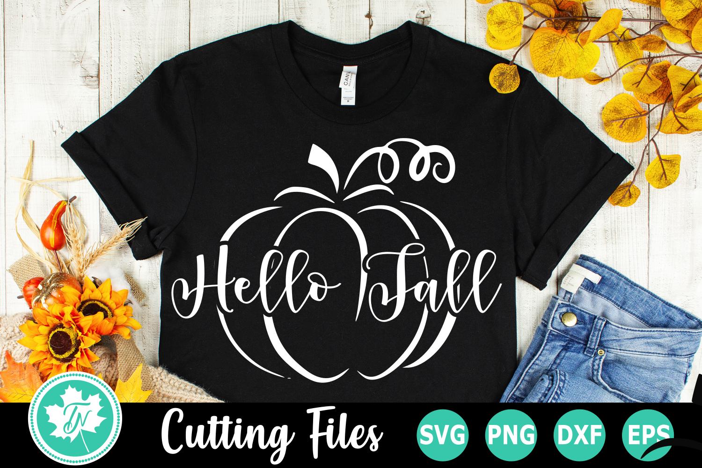 Hello Fall Pumpkin - A Fall SVG Cut File example image 3