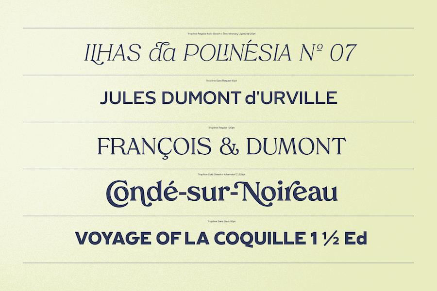 Tropiline Font Family example image 4