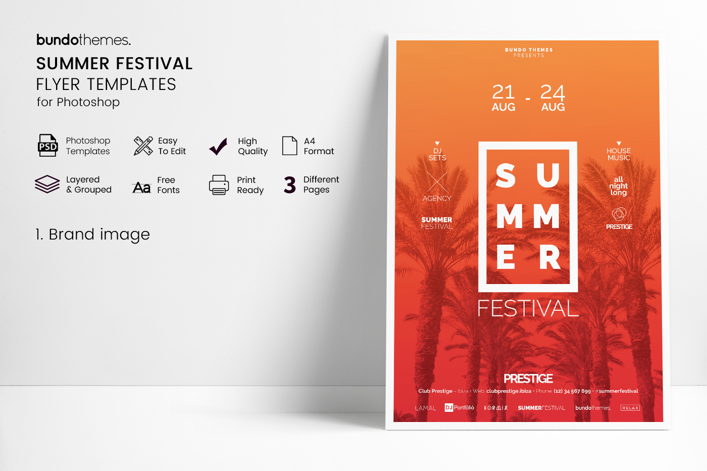Summer Festival Flyer Templates example image 3
