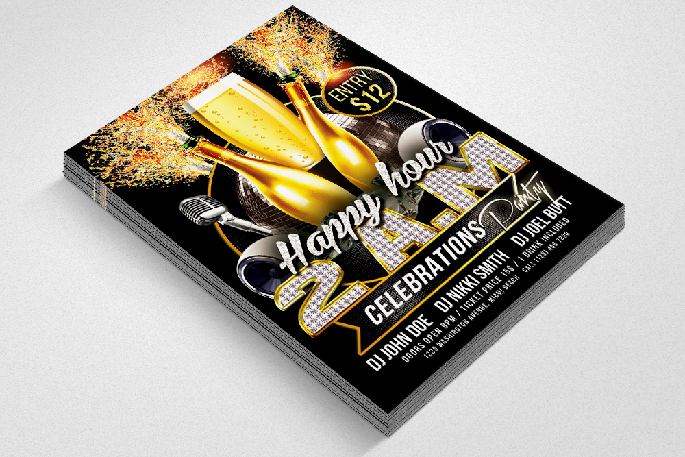 Happy Hour Psd Flyer Template example image 2