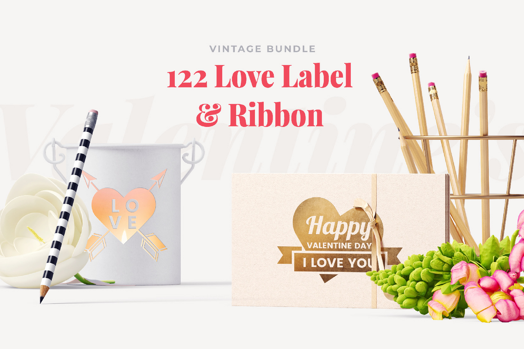 122 LOVE LABEL & RIBBON example image 7