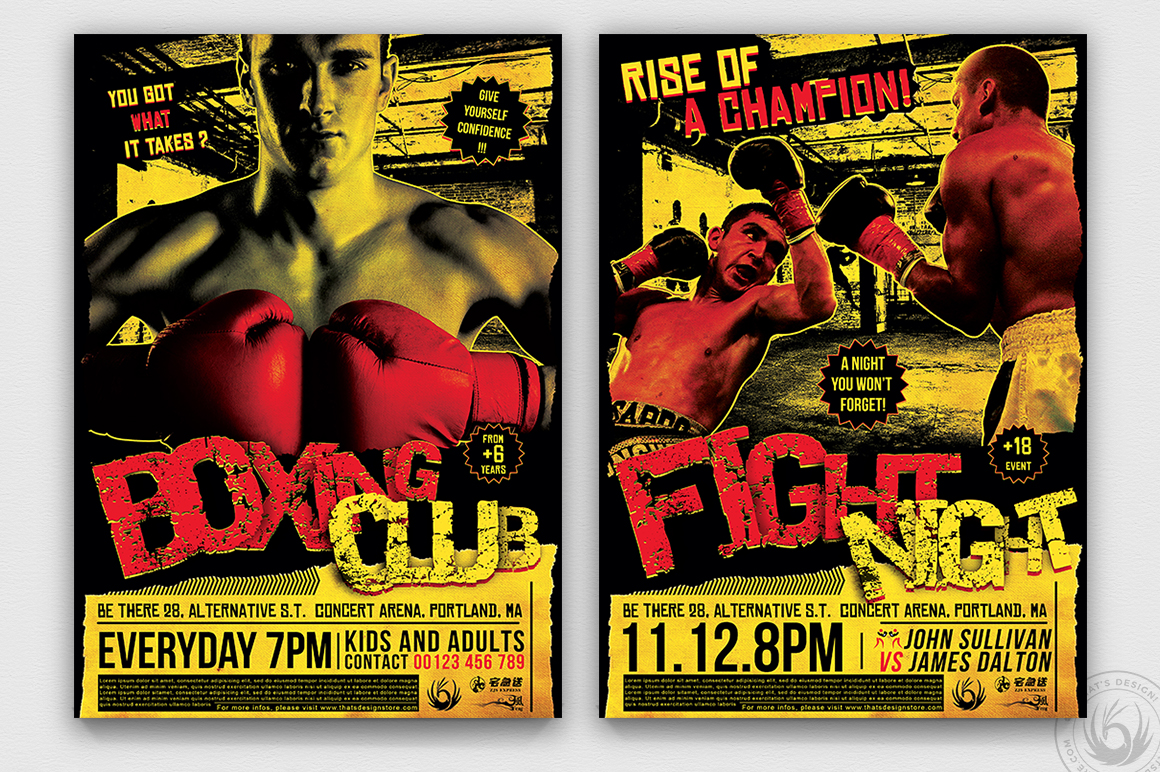 Fight Night Flyer Template V1 example image 1