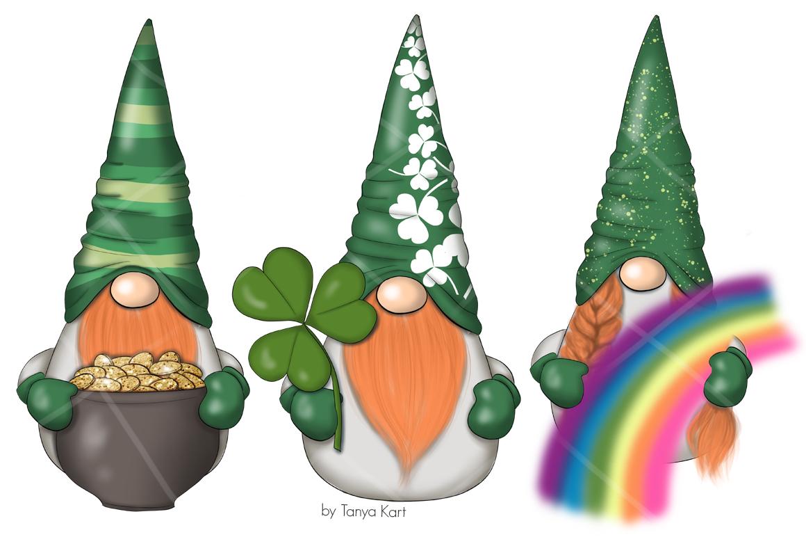 St. Patricks Gnomes Icons & Pattern example image 3
