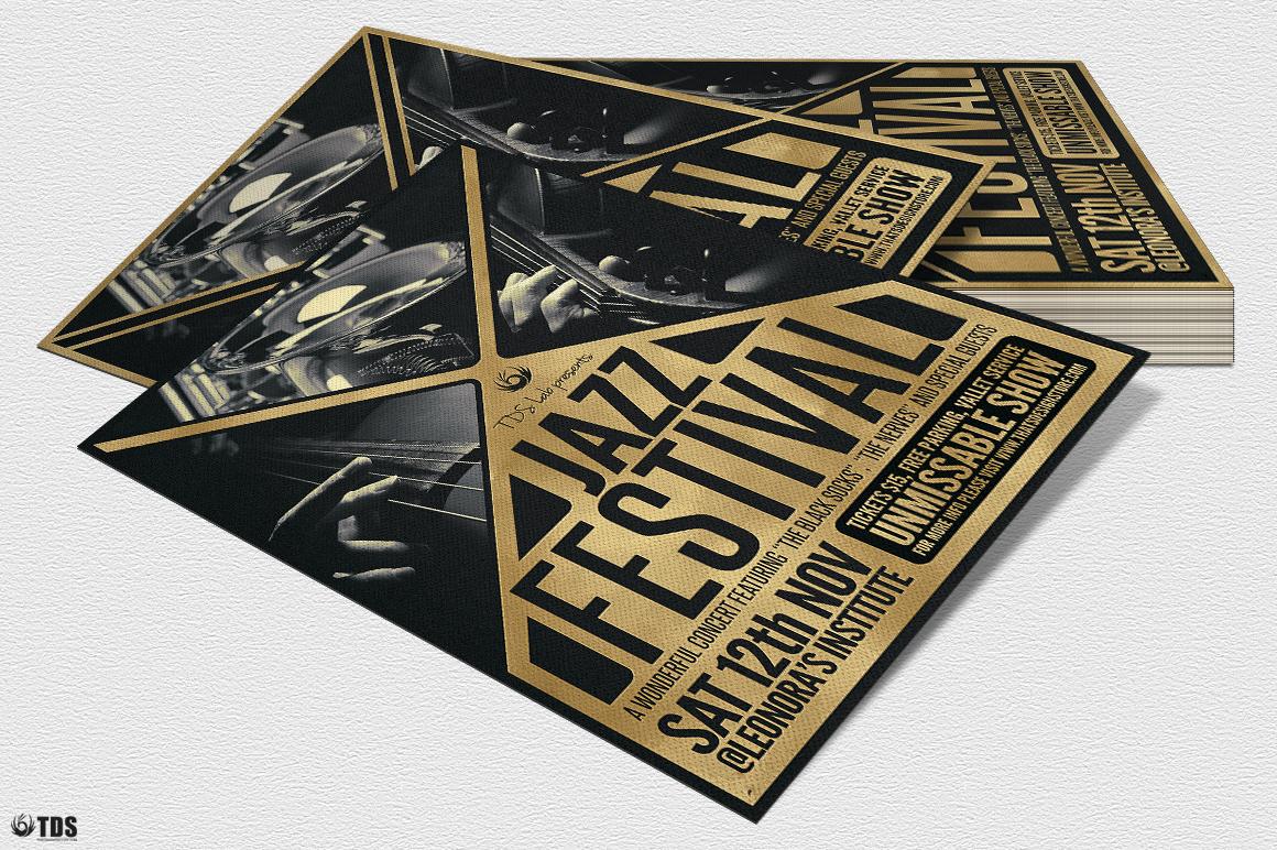 Golden Jazz Flyer Template example image 5