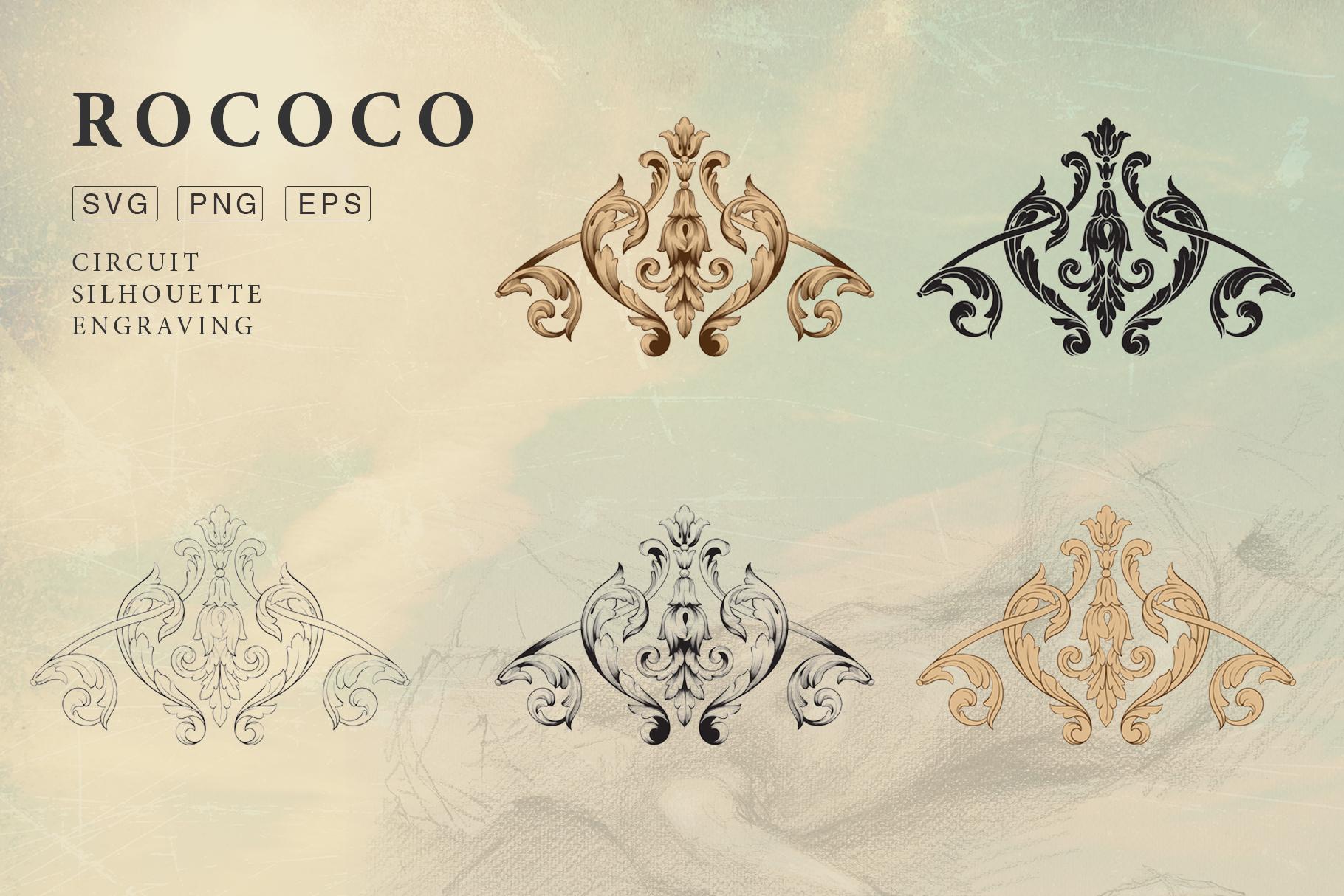 Rococo Romance Ornament page decor example image 4