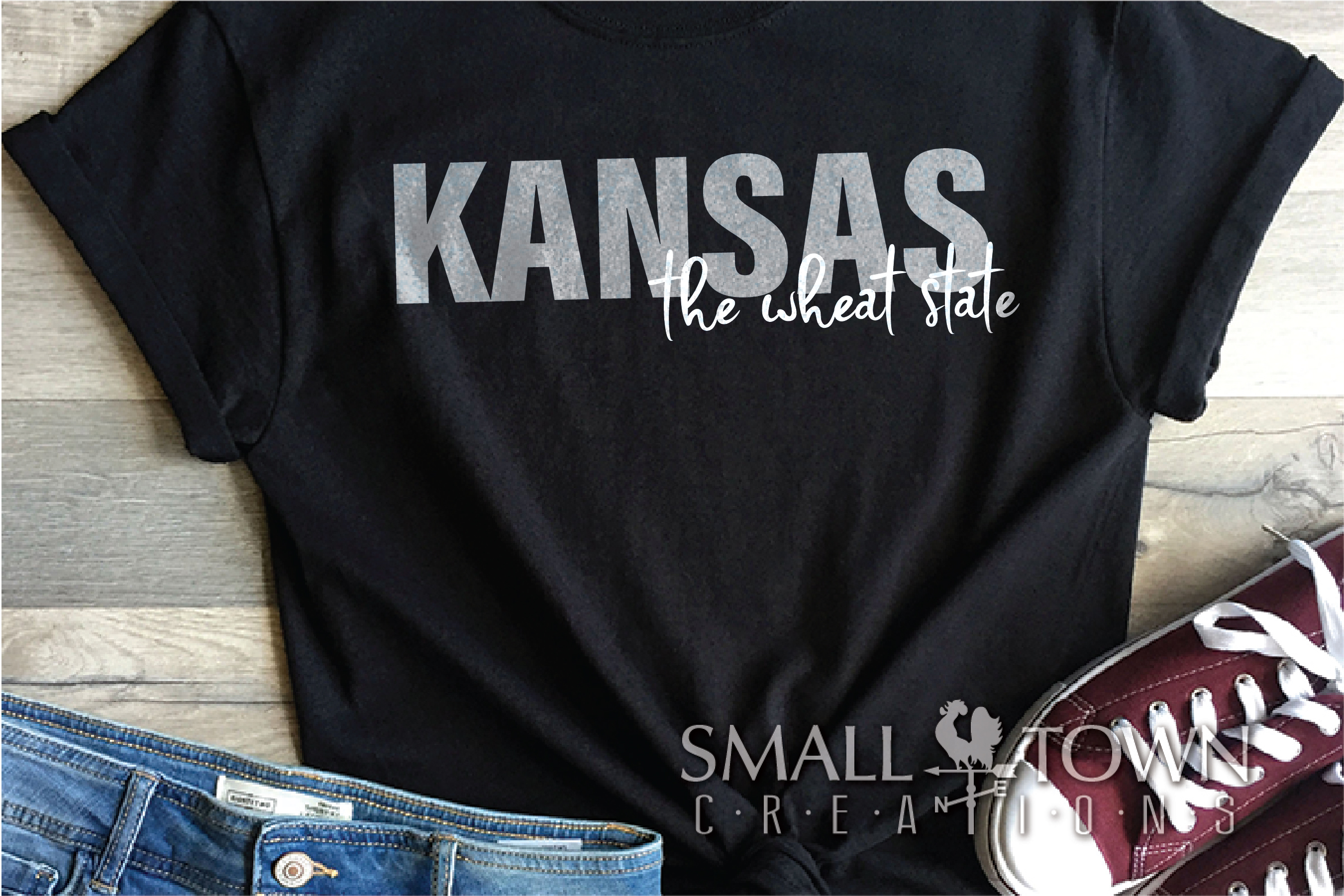 Kansas, The Wheat State - slogan, Logo, PRINT, CUT & DESIGN example image 8