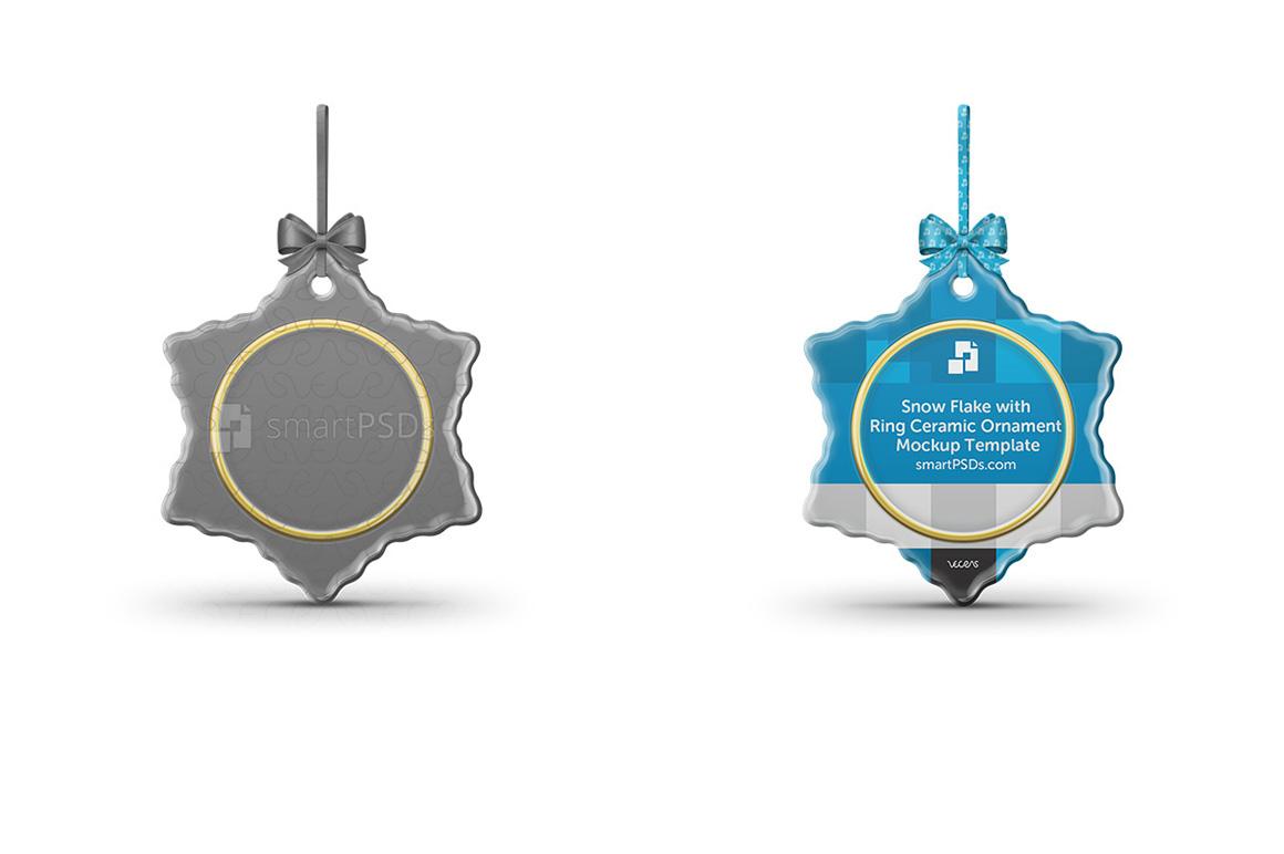 Flake with Ring shaped Ceramic Ornament Sublimation Mockup example image 1