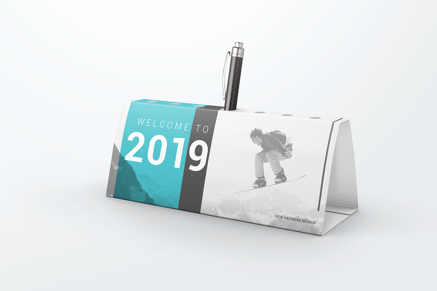 Desk Calendar Pen Holder Mockup example image 3