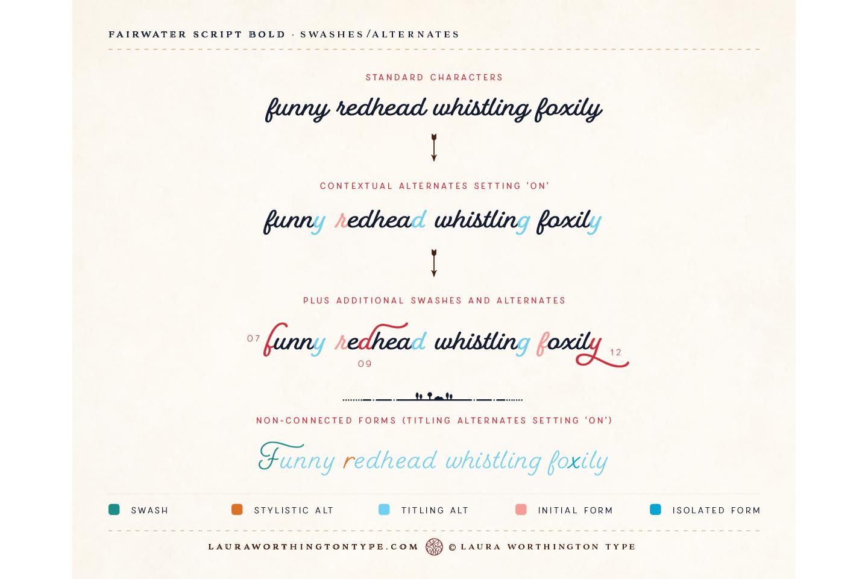 Fairwater Script Bold example image 25