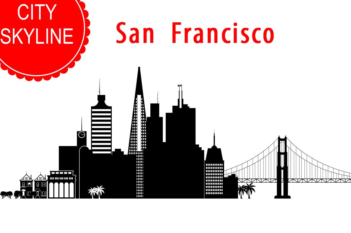 San Francisco Vector, California Skyline USA city, SVG, JPG, PNG, DWG, CDR, EPS, AI example image 1